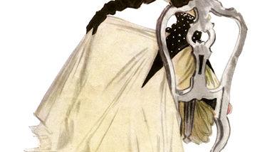 Un'immagine della scandaloda collezione Piguet del 1948