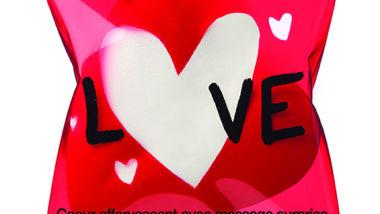 Fizzy heart with surprise message  Coeur effervescent con messaggio a sopresa, Euro  2,50€
