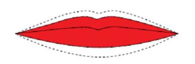 Make up bocca: labbra sottili