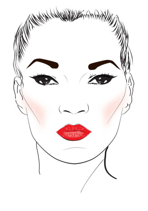 Make up Kate Moss Face_Charts 2