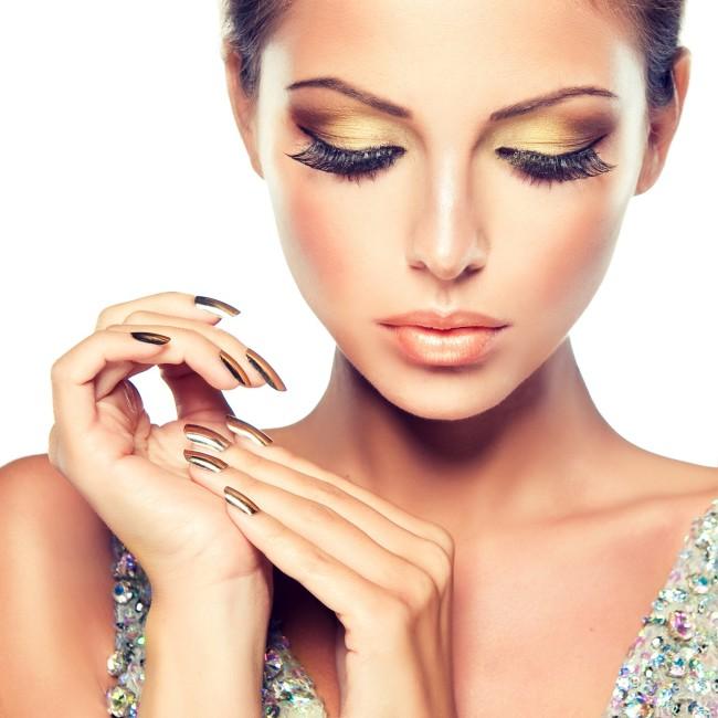 make-up dorato