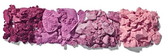 ombretti prugna e rosa