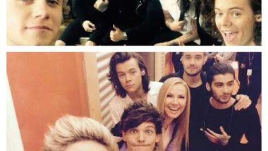 One Direction negli studi Mediaset a Roma