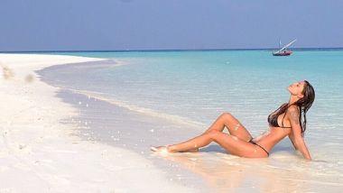 Belen Rodriguez alle Maldive