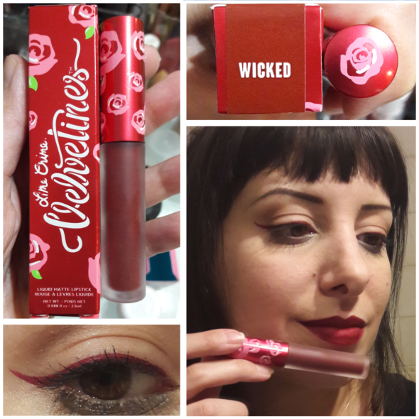 wicked limecrime liquidlipstick and eyeliner