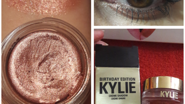 Rose gold cream shadow swatch kylie cosmetics