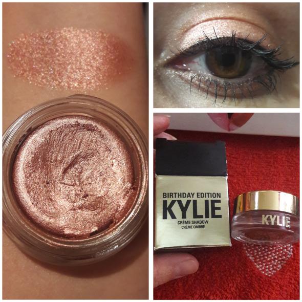 Rose gold cream shadow swatch kylie cosmetics