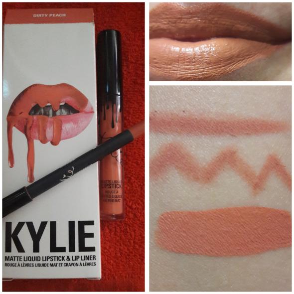 dirty peach swatch kylie cosmetics