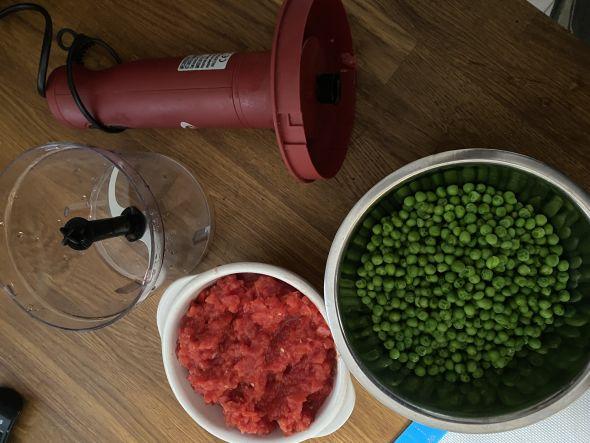 paella piselli e pomodori
