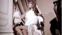 Sposa vintage. Vestito realizzato in chiffon di misto seta, gonna in macramè vintage. Foto di Silvio Zaami. Modella Anna Di Sciacca.